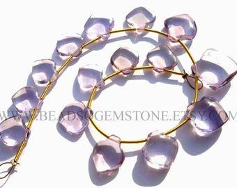Gemstone Beads, Ametrine Smooth Apple (Quality AA) / 10 to 12 mm / 18 cm / AMETRI-037