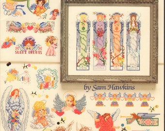 American School of Needlework 50 Angels Counted Cross Stitch Book
