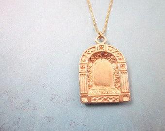Secrets Necklace -- Window Necklace -- Door Necklace -- Open Locket Necklace -- Door Pendant Necklace -- Arch Necklace --Fairy Door Necklace