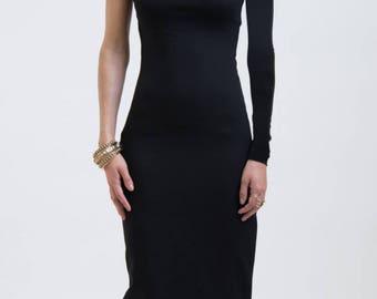One shoulder sheath cocktail dresses