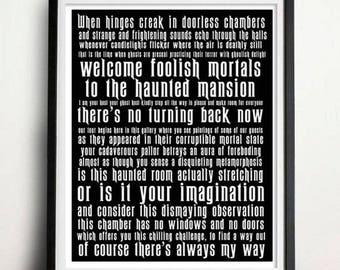 Digital Download - A3 print - Haunted Mansion - Subway Art