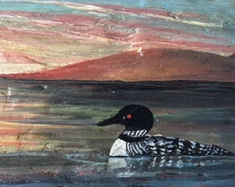 Loons on Driftwood