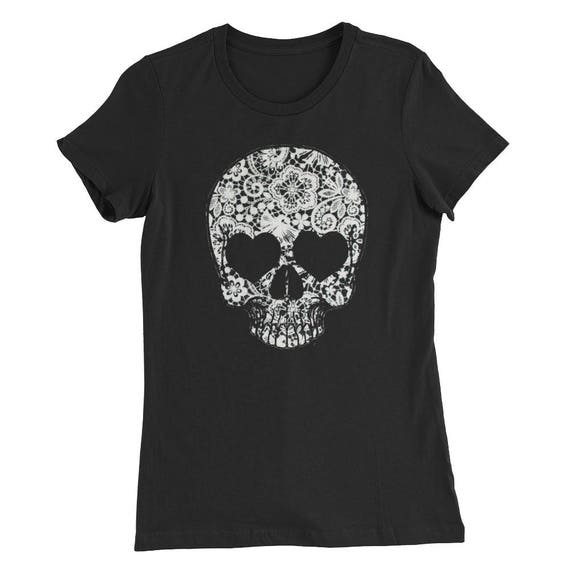 Lace Skull Women's Slim Fit T-Shirt