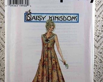ON SALE Simplicity 7551, Misses' Dress Sewing Pattern, Daisy Kingdom Pattern, Misses' Patterns, Misses' Size 12, 14, 16, Uncut