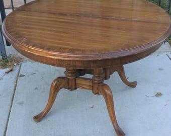 Vintage Oak Parlor Table