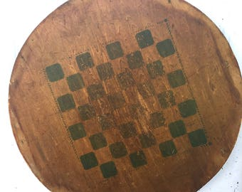 Old Wooden Game Board