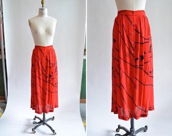 Vintage 1980s ZIZI rayon knit skirt