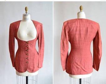25% off Storewide // Vintage 1980s GIAN MARCO VENTURI silk statement blazer