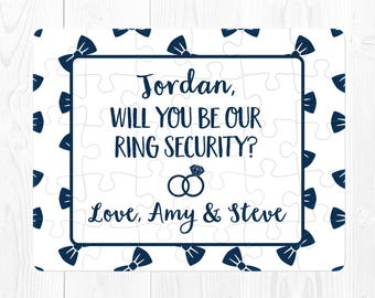 Ring Bearer Proposal Puzzle Ring Bearer Puzzle Proposal Will You Be My Ring Bearer Puzzle Ring Security Will You Be Our Ringbearer Cute Blue