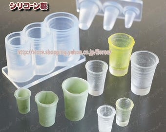 Miniature series tumbler mold High Quality Silicone Soft Mold For Clay / Resin / UV Resin/ Soap from Japan C-653