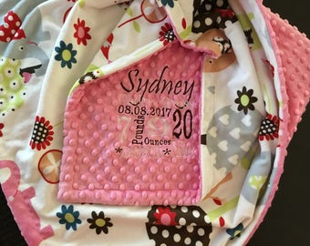 Custom Minky Blanket - Personalized