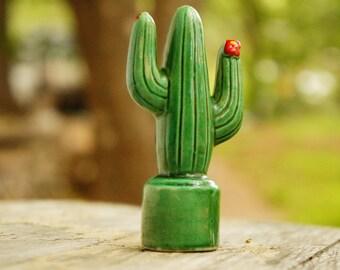 Vintage 50s-60s Saguaro Cactus Salt Shaker/Retro/Mid Century/Southwestern/Desert/Boho