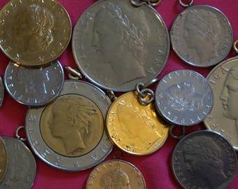Italy / Italian Coin Charms Lot