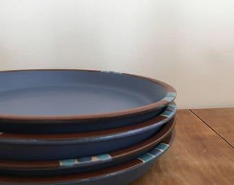 dansk mesa blue portugal salad plates set of 4