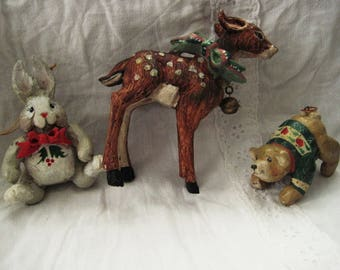Three vintage House of Haddon Ornamants-quite large