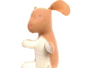 ON SALE Bunny rabbit stuffed animal- Tan with cream (Ready to ship!)