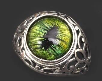 Dragon Eye Ring Sterling Silver Ring Sterling Silver Mens Ring Eye Ring Evil Eye Ring Dragon Eye