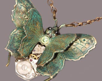 Steampunk Necklace Steampunk Jewelry Butterfly Necklace Butterfly Jewelry Steampunk Women