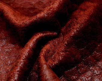 Dark Red Chenille Upholstery Fabric