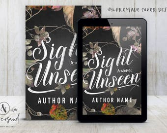 "Premade Digital eBook Book Cover Design ""Sight Unseen"" Contemporary Romance Young New Adult Literary General Fiction"