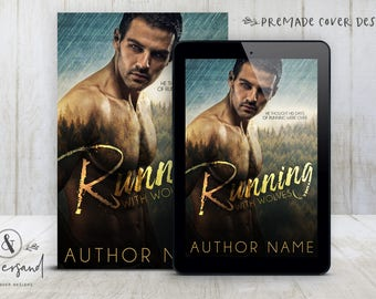 """Premade Digital eBook Book Cover Design """"Running With Wolves"""" Dark Romance Urban Fantasy Paranormal New Adult Fiction"""