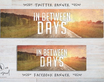 Twitter and Facebook Social Media Banner Add On Package