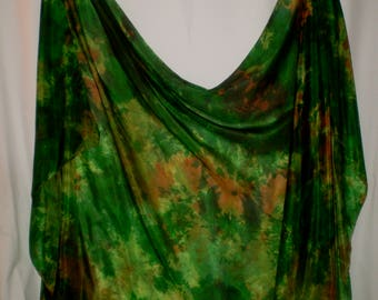 Hand-dyed in U.S. silk belly dance veil