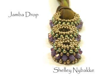 Jamba Drop Necklace  DIY Kit  -  24k Gold Matte/Cyclamen Opal