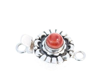 SPINY OYSTER CLASP Sterling Moon Petal Design 6mm Red NewWorldGems