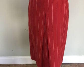 Vintage 80's Pinstriped Skirt