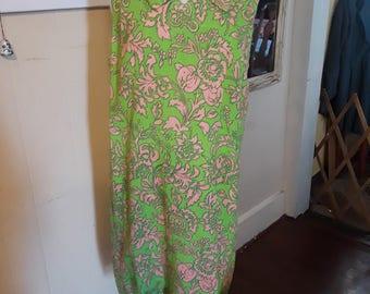 Retro, 1960's, Bright, Floral, Shift Dress