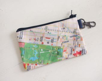 NYC, Map, Pouch, Central park, Upper west, Upper east, Traveling, Michi pouch, gift, NYC gift, coin purses