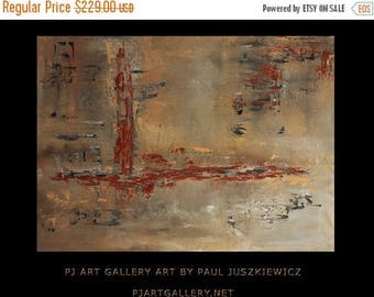 """17% OFF /ONE WEEK Only/ Special 30 Percent off The Arrow abstract by Paul Juszkiewicz 34""""x48"""" minimalism brown gray"""
