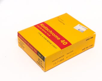 Kodak Kodachrome 40 8mm movie film, sealed, expired