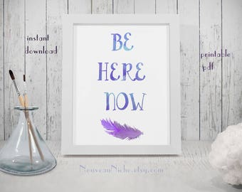DIY Decor Yoga Studio Decor Inspirational Gifts Spiritual Art Print Minimalist Print Feather Watercolor Office Decor for Women Gifts