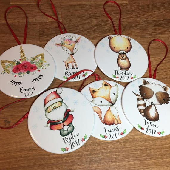 personalized Christmas ornaments for kids babys first