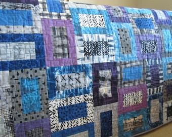 Homemade Quilts | Handmade Quilt | Patchwork Quilt | Geometric Quilt |  Quilts | Modern Quilt | Lap Quilt | Throw Quilt |  Handmade Gift