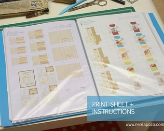 PRINTS to make your own Miniatures DIY by Nerea Pozo (digital copy) Sheets 001-009