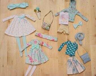 Ooak Pullip doll Outfit set AQUA - by Nerea Pozo