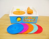 Vintage Fisher Price Record Player - Complete