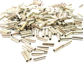 50 Silver Color Brass Tube , Findings (6x2 mm) G9619