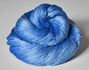 Clear summer sky OOAK -Silk Lace Yarn