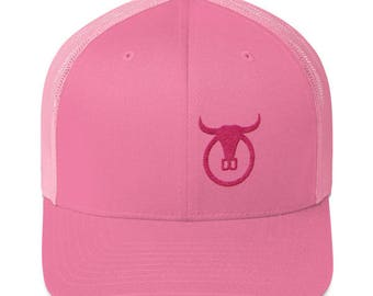 "Pink"" Embroidered Trail Boss Originals Trucker Cap"