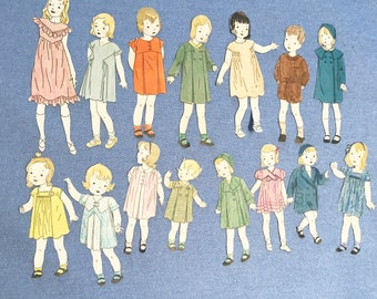 Collection of 15 paper girl cutouts images paper dolls magazine cutouts 1920s