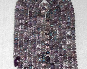 AB, AB Amethyst, AB Amethyst Rondelle, Translucent Amethyst, Faceted Rondelle, Half Strand, Natural Stone, Sparkle, Natural Gemstone, 6-7mm