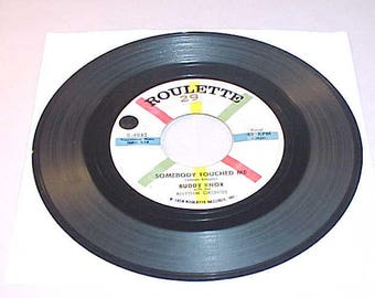 Buddy Knox 45 Vinyl Record - Somebody Touched Me / C'mon Baby