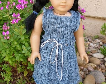 My Best Dress Doll Knitting Pattern