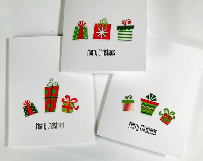 Christmas Card Set, You are a gift, set of Three, made on recycled paper, comes with envelope and seal