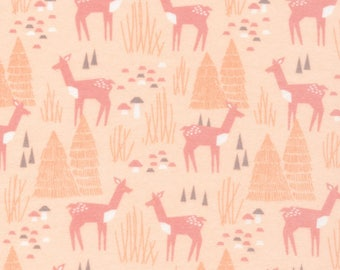 Organic FLANNEL Fabric - Cloud9 Field Day Flannel - Roam Free Pink