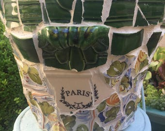 LG Garden Planter Pot ~ Mosaic Shard Pottery ~ PARIS ~ French Country